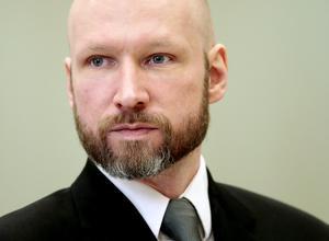 Nordens i särklass värste terrorist var en högerextrem etnisk norrman, Anders Breivik, som mördade 77 personer och skadade 315. Foto: TT