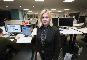 Gefle Dagblads ansvariga utgivare Anna Gullberg.