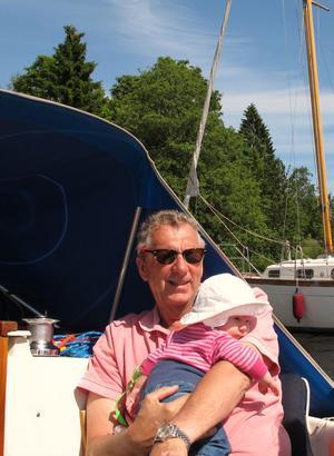 Morfar kapten med nya gasten Hedvig.