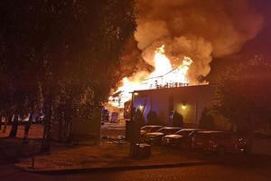 Brand i Vedum köks lokaler den 24 juli.