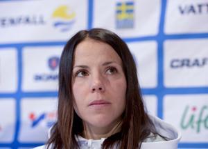 Charlotte Kalla sörjer Vibeke Skofteruds bortgång. Foto: Maja Suslin / TT