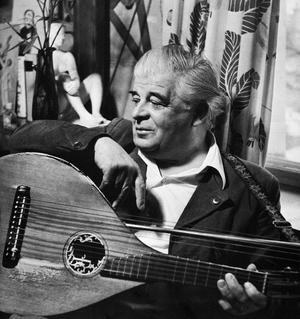 Evert Taube 1953. Foto: K. W. Gullers