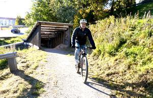 Gångtunneln fungerar som passage mellan Norra kajen och Haga.