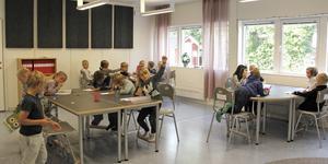 Förskoleklasserna, här FA, har haft både undervisning och fritids i den nya modulen sedan skolstarten i augusti.