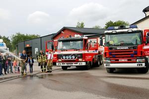 Nerikes brandkår i Fjugesta visade upp sig och sina fordon under dagen.