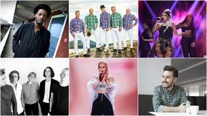 Adam Tensta, Black Jack, Linda Pira, Mares, Lisa Ajax och Tomas Kaya är några av artisterna som spelar på årets festival. Foto: Pressbilder/TT