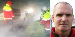 Arkivfoto: Torkel Ideström och Mats-Åke Persson. Bilden är från räddningen i fjol av ett stort sällskap skidturister på leden mellan Lunndörrsstugan och Vålåstugorna. Peter Borg.