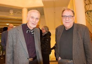 Debattören Bo Westin (t h) är en stor kulturentusiast i Sundsvall som även inrättat ett eget stipendium som årligen delas ut till lovande pianister vid Sundsvalls Kulturskola. (T v på bilden Bertil Lindström)