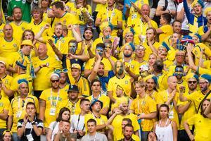 De svenska fansen på plats i Ryssland har gjort sitt för att stötta laget. Bild: Ludvig Thunman/Bildbyrån.