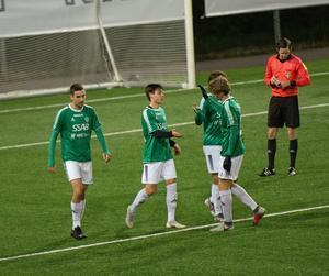 Hammarbyförvärvet Noa Williams, mitten, låg bakom Brages vändning mot Stjärnlaget (3–2) med sina två mål och en målgivande passning.