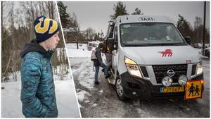 Viggo Sörbye bor i Lustebo utanför Falun. Han har fem kilometer till närmaste busshållplats när han ska till sin skola, Lugnetgymnasiet. Skolskjutsen som han tidigare har åkt med till hållplatsen tar bara med grundskoleelever, och nu är det stopp för Viggo, för nu har han börjat gymnasiet.