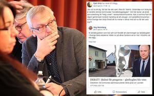 Kjell Grip (KD) gjorde i april en delning av