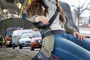 I höst måste bussförare i beställnings- och linjetrafik påminna sina resande om att bältet ska på. De skärpta kraven välkomnas av Sveriges Bussföretag.Foto: TT/Nisse Schmidt