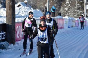 Johanna Vilhjalmsdottir från Island klarade reptiden i Evertsberg och fortsatte till Oxberg.