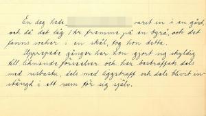 Ur bestraffningsboken på Bodaborgs sinnesslöanstalt.