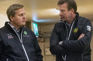 Patric Rangedal och Erik Eriksson, två av hjärnorna bakom Malungs IF:s nya inriktning som hockeyförening.