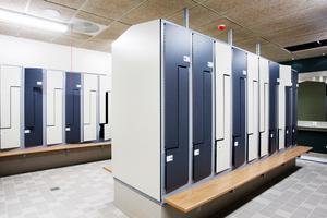 Under renoveringstiden kommer det finnas tillfälliga omklädningsrum för besökarna.