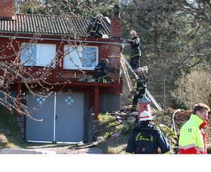 Villabrand i Tallåkern i Hedemora. Foto: Niklas Hagman