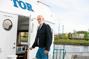 Håkan Isaksson säljer nu sin båt M/S Tor för att bli pensionär.