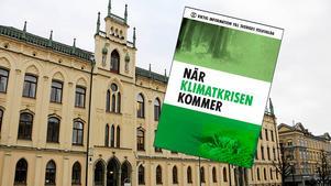 I dagarna får Örebros politiker broschyren När klimatkrisen kommer i sina händer. Bildmontage