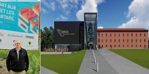 Kjell Johansson och Entré Hofors har ansökt om en förändring av detaljplanen för att kunna omvandla Hagaskolan till ett tekniskt center. Bild: Roger Wallenius/Johan Skoog, Arkitekter