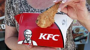 Friterad kyckling på amerikanskt vis.