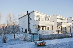 Detta parhus/radhus/kedjehus i Falun kom på fjärde plats på Dalarnas egen