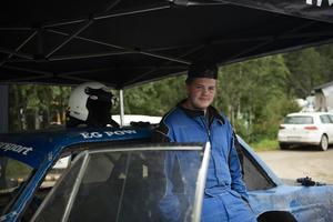 Eliott Edberg från Krokoms MK tycker att banan i Klingre är rolig att köra.