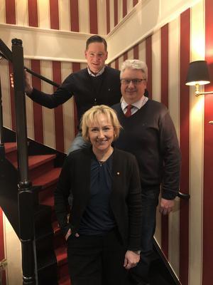 Helene Hellmark Knutsson, Hans Unander och Anders Bjernulf träffades i Sälen och talade om besöksnäringen. Foto: Socialdemokraterna