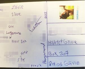 Under tiden som häktade har båda männen mottagit vykort från andra i den kriminella mc-miljön. BFFB står för
