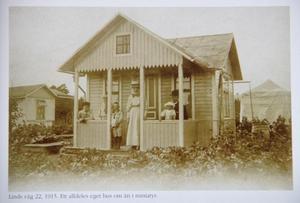 Malins kolonistuga som den såg ut 1915.