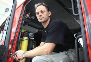 Lasse Nordlund på räddningstjänsten i Ytterhogdal.