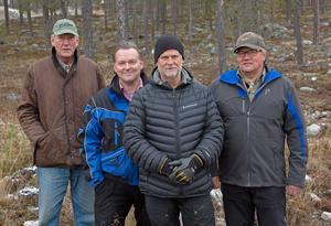 Staffan Derning, Torbjörn Wallin, Calle Kindlund och Benny Jonsson är fyra av nyckelpersonerna i den organisatipn som nu ska förverkliga Idre Himmelfjäll..