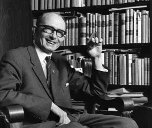 Per Engdahl var ordförande i Riksförbundet Det Nya Sverige och ledare för Nysvenska rörelsen, som var influerade av fascistiska och nationalsocialistiska idéer. Bilden är från 1970.  Foto: Scanpix