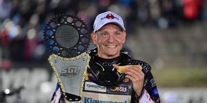Fredrik Lindgren tog sin första GP-seger för säsongen och ligger nu femma i den sammanlagda tabellen. Foto: TT.