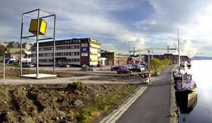 Beijer har numer flyttat till Gärde. Bilden togs i samband med att bostadsbyggandet skulle börja på platsen.