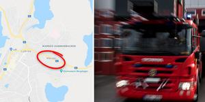 Polisen har skrivit en anmälan om skadegörelse genom brand efter att en barnvagn börjat brinna i Marnäs. Foto: Google maps, Pontus Lundahl