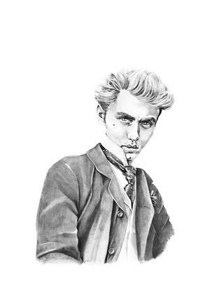 Den sköne narcissisten Dorian Gray. Illustration: Elin Sandström