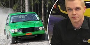 """Pontus Lönnström lämnar """"gröna faran"""", den Volvo 940 han körde till ett SM-guld 2018, för att 2019 köra en Ford Fiesta R2T i bland annat svenska rallyt."""