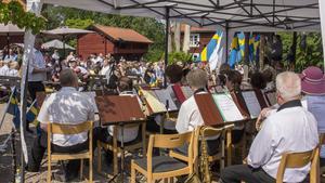 Bara svenska låtar spelades under firandet.