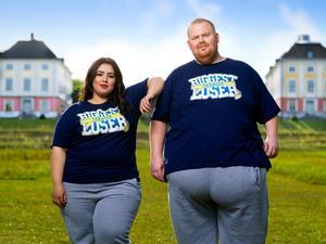 Foto: Daniel Ohlsson/TV4. Bayan och Michael, de två Timrå-representanterna i årets Biggest loser.