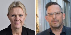 Ann-Christine From Utterstedt och Magnus Edman, Sverigedemokraterna.