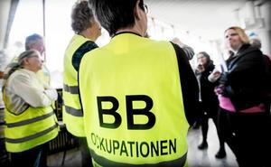 Björn Elmbrant besökte BB-ockupationen i Sollefteå under onsdagen.