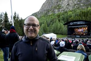 Arrangören Fredric Wedin var nöjd med kvällen.