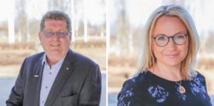 Jan Bohman (S), kommunstyrelsens ordförande i Borlänge och Monica Lundin (L), ordförande i barn- och utbildningsnämndens i Borlänge svarar på kritiken. Foto: Pressbild