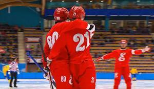 Jenisej gjorde sju mål på torsdagen – varav två av Christoffer Edlund. Bild: Skärmdump från Youtube.
