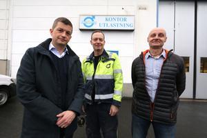 Ivan Svensson, vd, Ronny Larsson, IF Metall och produktionschef Claes Berntsson på Skyllberg industri AB har avslutat förhandlingarna. 11 medarbetare sägs upp.
