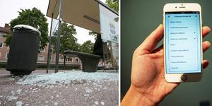 Varje år krossas mängder av busskurer i Gävle. Bara Gävle kommun (som äger en minoritet av kurerna) har fått lägga ut 90 000 kronor i reparationskostnader. Bolaget JCDeaux, som äger betydligt fler kurer, har pungat ut med 140 000 kronor för att återställa efter vandalernas framfart (men i den summan ingår även klottersanering).