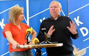 Foto: Björn Larsson Rosvall / TTKristdemokraternas pressträff om Ebba Busch Thors förvalsturné samt den inledande utfrågningen med Bert Karlsson i Skövde, tidigare under våren.