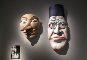 Arne Högsanders masker i Staffan Westerbergs uppsättning av August Strindbergs